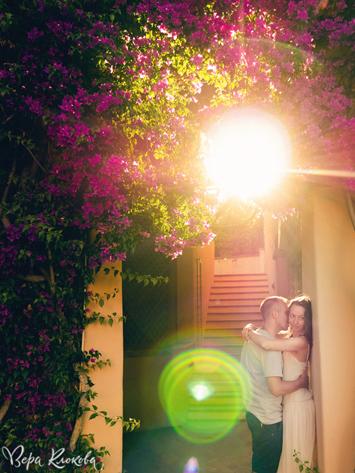 love-story на закате в Италии (о.Сардиния)