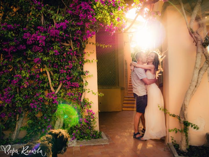 романтическая фотосессия на закате в Италии (о.Сардиния)