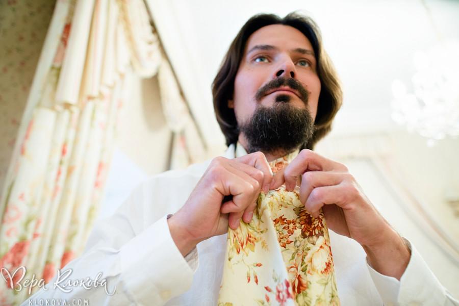 шейный платок для жениха из хлопка с цветочным рисунком