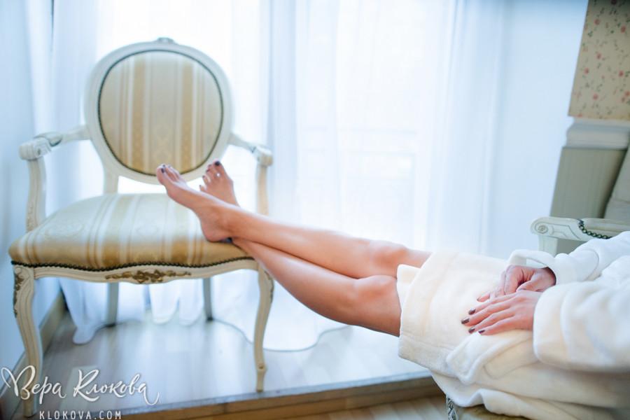 утро невесты/ ножки невесты